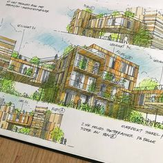 Conceptual Architecture, City Photo, Sketches, Architectural Drawings, Graphics, Design, Color, Ideas, Drawings