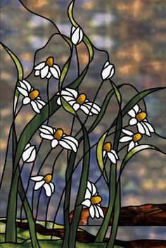 Cornflower Bluff Stained Glass Pattern from Glass Pattern Source (inspiration for shoes) Stained Glass Flowers, Stained Glass Crafts, Faux Stained Glass, Stained Glass Designs, Stained Glass Panels, Stained Glass Patterns, Leaded Glass, Mosaic Glass, Glass Painting Patterns