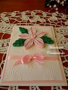 Felicitare quilling ( quilled card )