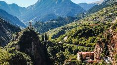 The Prousos village, nested in a lush gorge in Evritania
