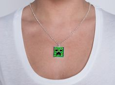Minecraft Creeper Pendant Necklace