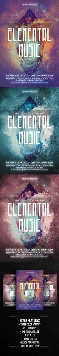 Futuristic Abstract Electronic Music Flyer  Music Flyer