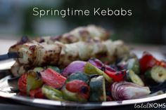 Recipe for chicken and vegetable kebabs with a tangy vinaigrette, plus a few tips for great kebabs.