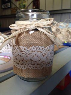 I've used a preserve jar.  Used hesham, lace and raffier