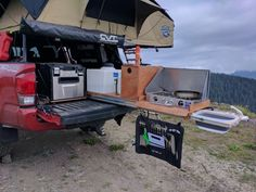 Won't some coil hose fit? The coil would need to be pretty tight - around or so. Ute Camping, Truck Bed Camping, Camping Set Up, Camping Storage, Camping Table, Camping Outdoors, Suv Camper, Build A Camper Van, Pickup Camper