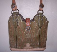 COWBOY BOOT PURSE  Leather / Rodeo/ Cowgirl / by WindRiverDesigns, $129.00