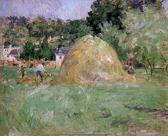 Meules de foin à Bougival, huile sur toile de Berthe Morisot (1841-1895, France)