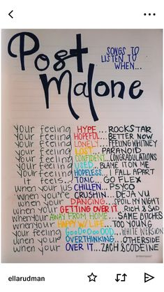 Post Malone songs to listen to Music Quotes, Music Lyrics, Music Songs, Piano Music, Mood Songs, Music Mood, Song Suggestions, Aesthetic Songs, Drawing Quotes