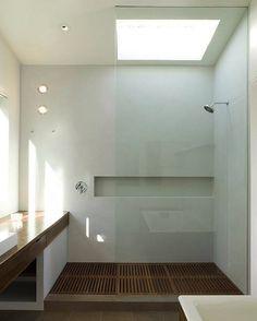 Scandinavian design shower