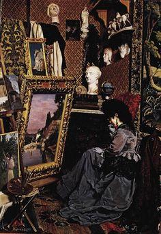 Odoardo Borrani Una visita nel mio studio (1872) oil on canvas, 64,5 x 45 Private collection