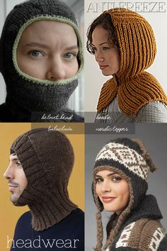 Keeping your head warm | balaclavas and other headgear | free patterns