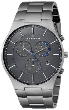 Skagen Men's SKW6077 'Balder' Titanium Watch with Link Bracelet -- Click image to review more details.
