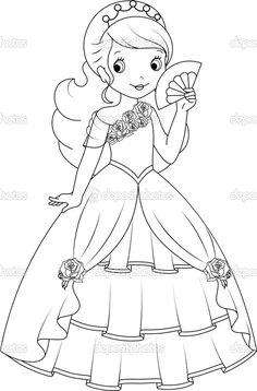 Princess coloring page — Stock Illustration #49999689