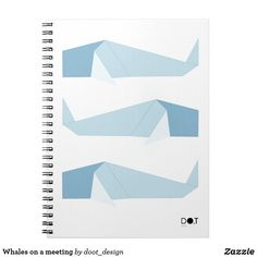 Shop Whales on a meeting notebook created by doot_design. Whale Origami, Whale Print, Custom Notebooks, Lined Page, Whales, Print Design, Black And White, Prints, Image
