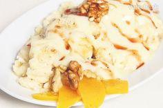 Babičkine orechové halušky s vanilkovým krémom