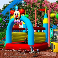 Circus Trampoline Decor by Ersel - Sims 3 Downloads CC Caboodle