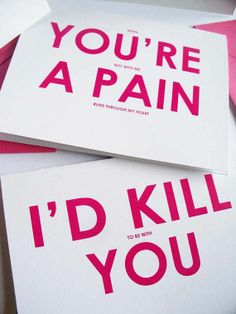 My FUnny Funny Love Humor Cards And Envelopes--Funny Valentines Day… Funny Cards, Cute Cards, Diy Cards, My Funny Valentine, Valentine Day Cards, Nerdy Valentines, Funny Birthday Cards, Diy Birthday, Humor Birthday