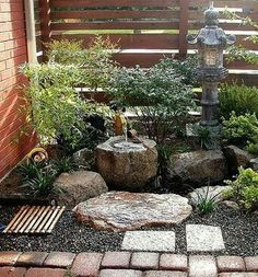 Brilliant Small Rock Gardens Ideas - In case you are unsure as to which option to make, begin with a small rock backyard on one aspect of the world you're contemplating. If the backyard is a hit, you may add to it over time. Backyard Garden Landscape, Modern Backyard, Backyard Landscaping, Garden Paths, Large Backyard, Small Japanese Garden, Japanese Garden Design, Japanese Gardens, Zen Garden Design