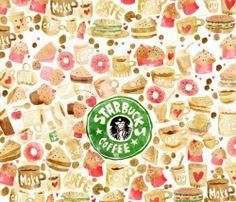 pattern for Starbucks Coffee Starbucks Coffee, Starbucks Art, Starbucks Crafts, Coffee Talk, Coffee Love, Coffee Club, Coffee Corner, Frappe, Food Illustrations