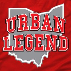 urban legend shirt, state of ohio, columbus football