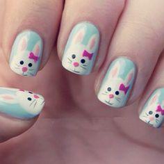 Cute rabbit nail design