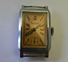 Hanhart caliber 101 ca 1935 tank watch . door Vintageclocksandmore