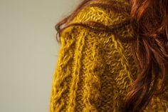 Handmade mustard natural wool cardigan by TASSSHA on Etsy