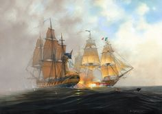 HMS Surprise and The Acheron.