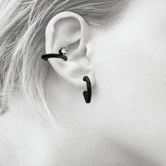 Sterling Ear Cuff with CZ