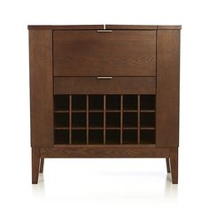 Parker Spirits Bourbon Cabinet crate and barrel $399...or in ebony of going in LR??