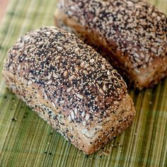 White and black sesame seeds, along with sunflower seeds -- both inside and out -- add great crunch and a rich, nutty flavor to this seeded wheat bread. Yeast Bread, Bread Baking, Dinner Rolls, Tortillas, Traditional Bread Recipe, Pizza Pastry, Biscuits, Seed Bread, Bread Toast