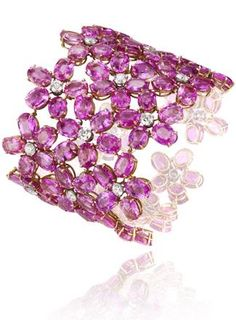 Rosamaria G Frangini | High Pink Jewellery | Pink Sapphire Cuff