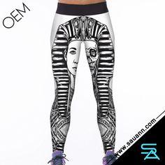 Fashional 3D Digital Sphinx Print Stretchy Women Legging
