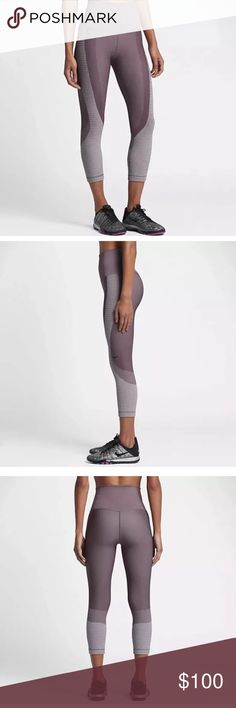 $NIKE ZONED SCULPT WOMEN'S TRAINING CAPRIS PURPLE New with tag. Size small Nike Pants Leggings