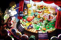 This really looks cool how Mario is presented on stage with the toads watching. Fun take on different various ways to view the game.  Super Mario World by Creamsouffle on DeviantArt