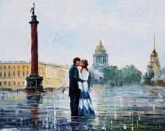 """Леонид Афремов """"Санкт-Петербург"""" 2012"""