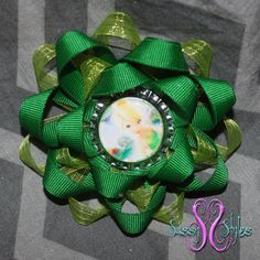 Sassy Sunflower Tinkerbell Hair Bow Accessory by SassyStylesbySS