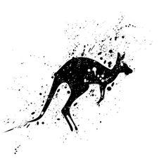 Spotted Kangaroo Art Print