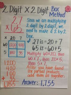 Cao's Grade Math: Multiple Digit Multiplication - New Site Multiplication Anchor Charts, 4th Grade Multiplication, Math Anchor Charts, Fifth Grade Math, Fourth Grade, Math Fractions, 4th Grade Maths, Box Method Multiplication, Third Grade Math Games