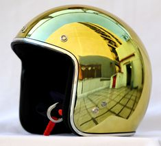 Masei Lemonade Yellow Chrome 610 Open Face Motorcycle Helmet