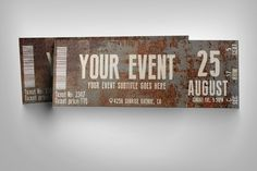 Rusty event ticket by studioweb on @creativemarket