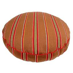 Brown Ticking Stripe Round Dog Pillow Size: Medium (36' L x 36' W) ** See this great image  (This is an amazon affiliate link. I may earn commission from it)