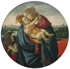 Sandro Botticelli - Renaissance - Madonna and Child with the Young Saint John the Baptist - 1490-1500 - Madonna and Child with the Young Saint John the Baptist