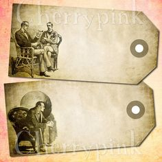 Sherlock Holmes tags! set of 6 tags featuring original sydney paget illustrations!