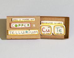 Ingenioso amor tarjeta/aniversario tarjeta /Chemistry por 3XUdesign