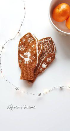 Kids mitten knitting pattern, 2-5 years // Strikkeoppskrift på barnevotter med dinosaur, 2-5 år Mittens, Knits, Ravelry, Knitting Patterns, Seasons, Animal, Threading, Fingerless Mitts, Knit Patterns
