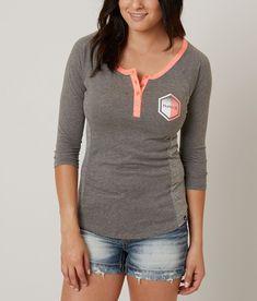 Hurley Hexler Henley Top - Women's T-Shirts in Charcoal | Buckle