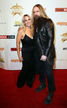 Zakk Wylde and wife Barbaranne Wylde attend the Annual Classic Rock Awards at Avalon on November 2014 in Hollywood, California Heavy Metal Music, Heavy Metal Bands, Zakk Wylde, Rock And Roll Bands, Rock Roll, Jeff Hanneman, David Coverdale, Black Label Society, Famous Musicians