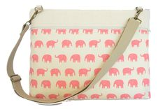 Pink Elephants Laptop Bag