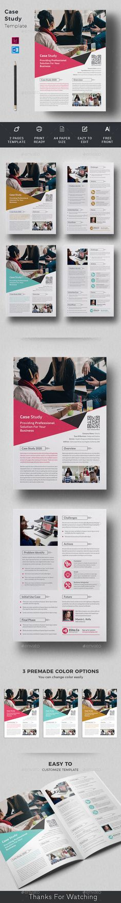 Buy Case Study Template by telaarte on GraphicRiver. Case Study Flyer Case Study Flyer Template suitable for presenting your case studies in a professional way. Case Study Template, Page Template, Flyer Template, A4 Paper, Paper Size, Printed Portfolio, Change Image, Editorial Design, Logo Templates